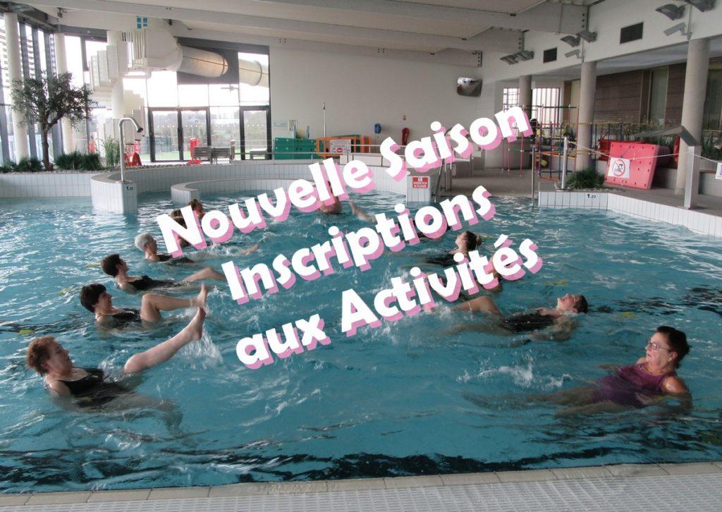 Inscriptions Aquaforme, Aquagym et Aquatonic à partir du 31 août