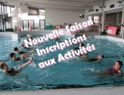 Inscriptions Aquaforme, Aquagym et Aquatonic le 7 septembre