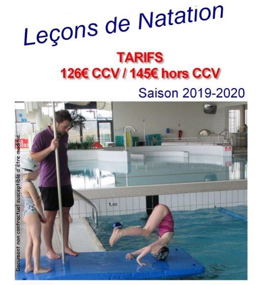 Leçons de Natation Inscriptions le 3 février